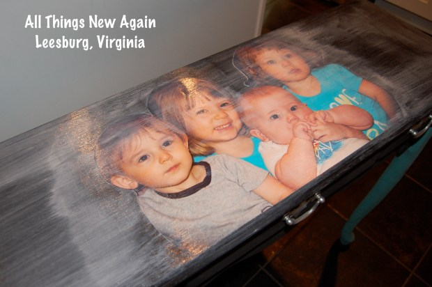 Decoupage Family Photos onto Furniture | Mod Podge | Decoupage | Decoupage Photo onto Table