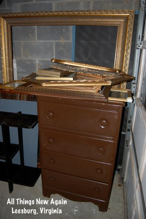 I love collecting cheap old picture frames from thrift stores and yard sales. See the transformation into elegant home decor at AllThingsNewAgain.net