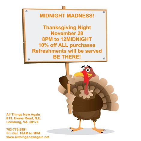 Midnight Madness at All Things New Again!