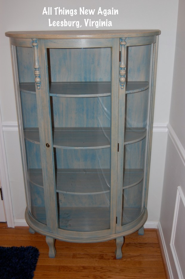 Grandma's blue china cabinet | Before shot | All Things New Again | Northern Virginia painted furniture