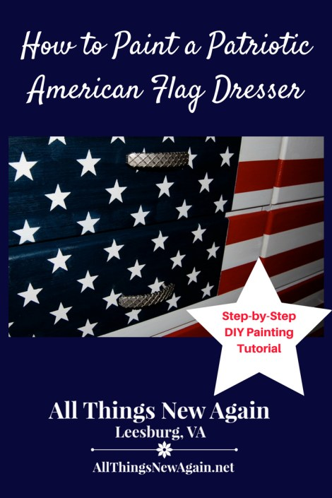 How to Paint a Patriotic American Flag Dresser | Tutorial by All Things New Again