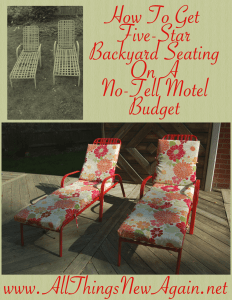How to Get Five Star Backyard Seating on A No-Tell Motel Budget