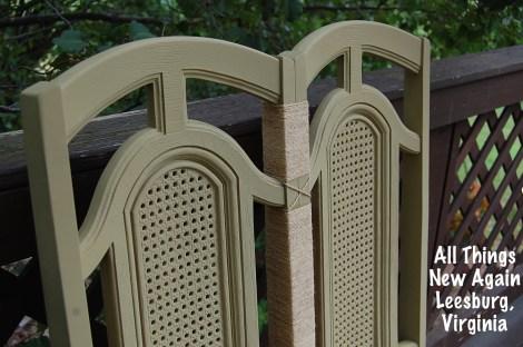 chair bench closeup