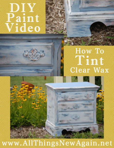 How To Tint Clear Wax With Paint