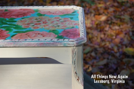 Don't Be Afraid to Decoupage Furniture! Here are our best tips. | All Things New Again