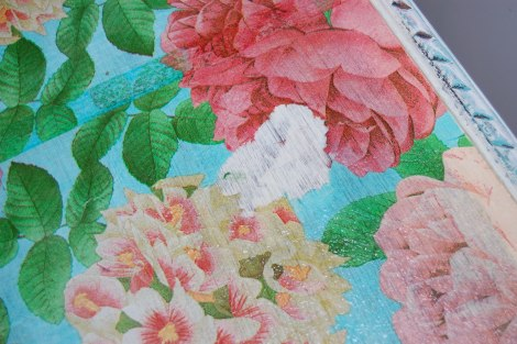 Decoupage Furniture: How to Fix a Hole, Rip or Tear in the Paper Napkin