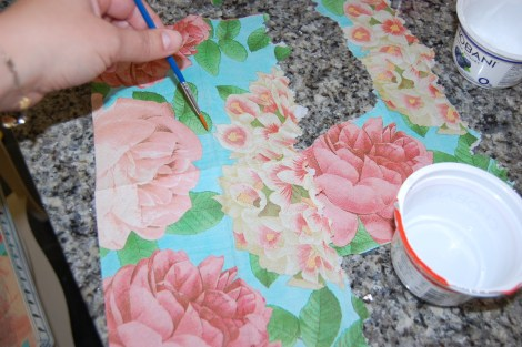 Decoupage Furniture: How to Make a Patch to Fix a Mistake