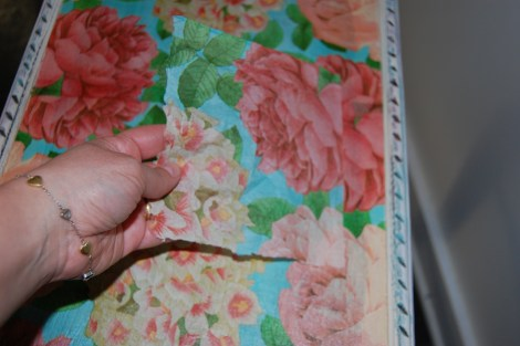 Decoupage Furniture: It is Easy to Make a Patch to Fix a Decoupage Mistake