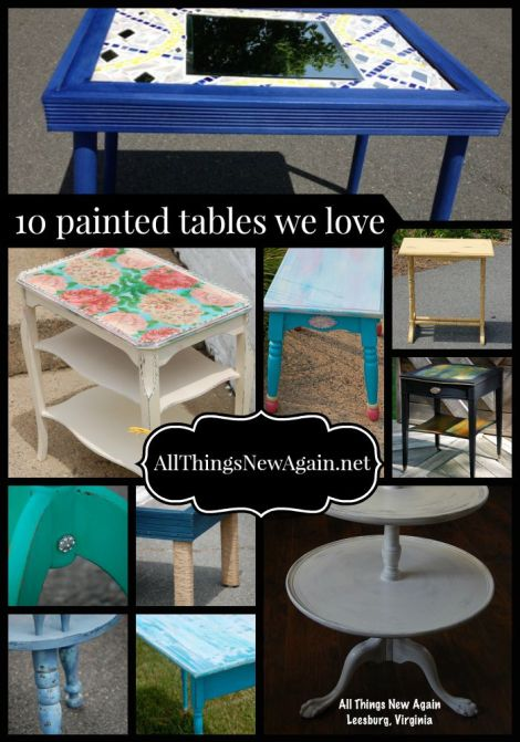 10 painted tables we love