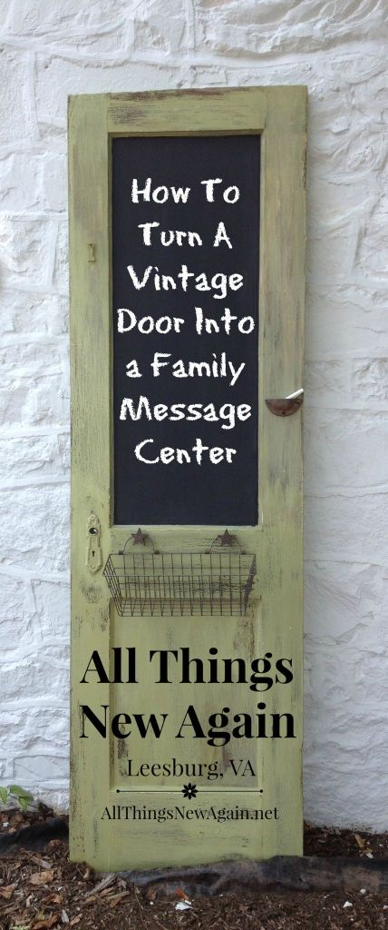 How to Turn a Vintage Door Into a Family Message Center | All Things New Again | Tutorial | Door Decor | Family Command Center