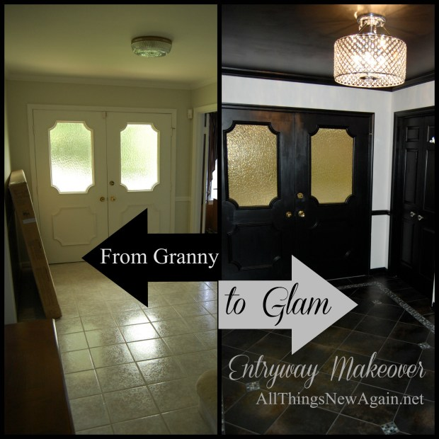 From Granny to Glam Entryway Makeover