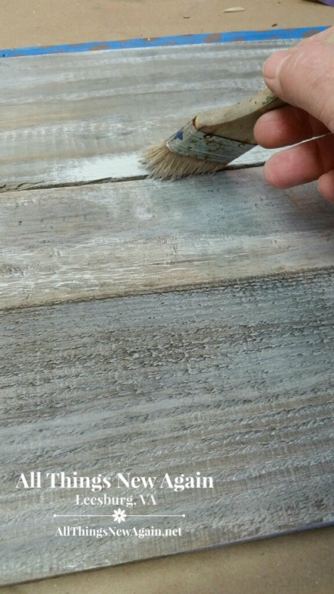 how to weather wood with paint