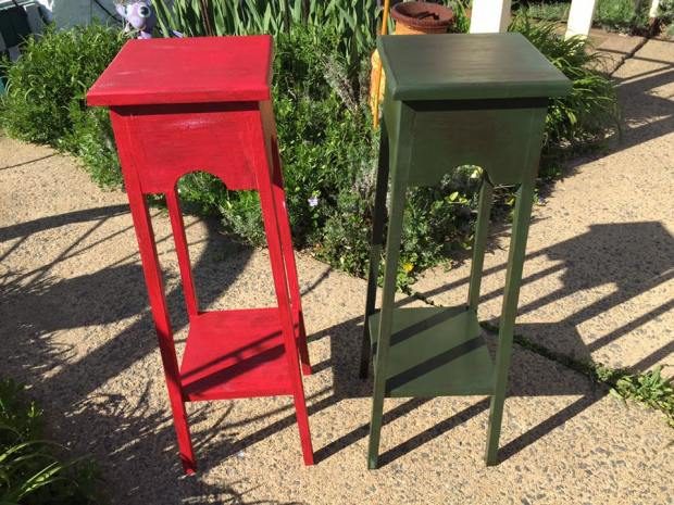 Milk Paint Class | Tables Students Painted | All Things New Again