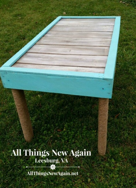 Real Milk Paint pallet wood table2