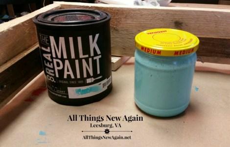 Real Milk Paint_custom aqua color