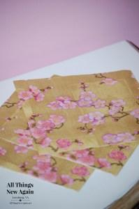 cherry blossom napkins