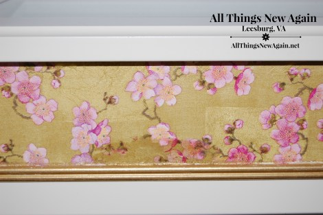 ikea cherry blossom table closeup