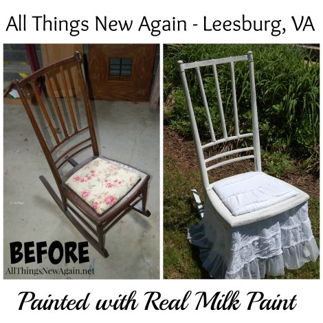 rocking chair before and after