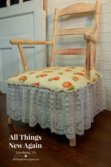 Chair w Yellow Seat and Lace