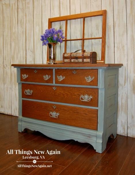 Green Furniture Makeovers | Painted Furniture | Green Furniture Inspiration | Vintage Dresser Painted Green