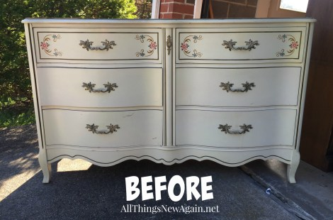 Furniture Paint Makeovers | Before Shot | French Provincial dresser