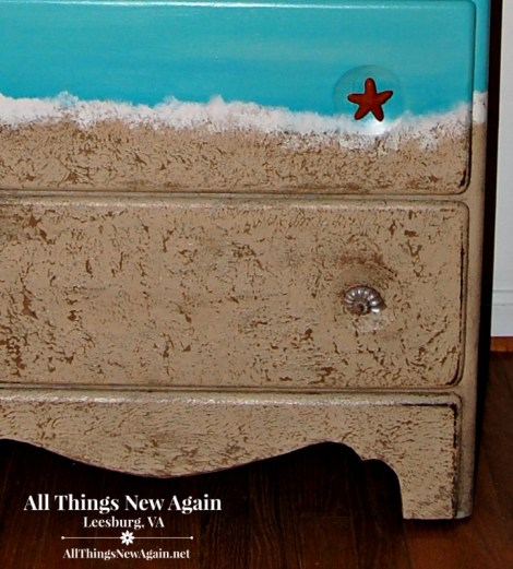 How to Paint the Perfect Beach Dresser | Painted Furniture Makeover | Create Sandy Texture with Paint | Dixie Belle Mud