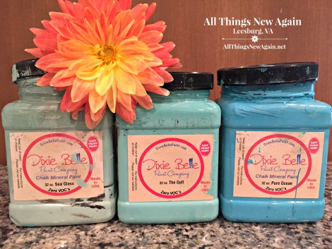 Dixie Belle Paint Company | chalk mineral paint | turquoise | aqua | blue | Sea Glass | The Gulf | Pure Ocean