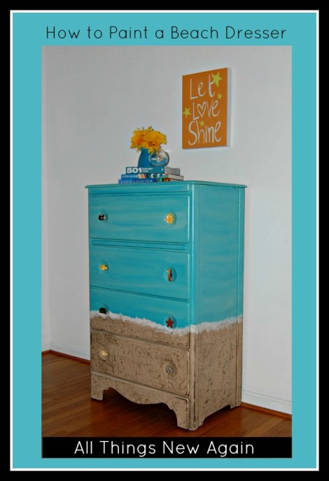 How to Paint a Beach Dresser | Painted Furniture Makeover | DIY | Dixie Belle Paint
