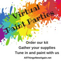 Virtual Paint Party | At home painting workshop | Online painting workshop | All Things New Again