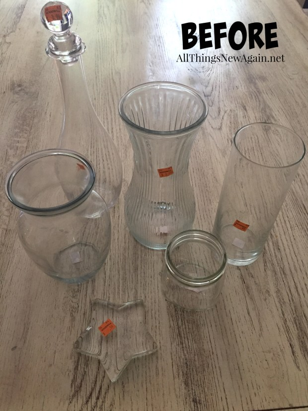 Glass Vases for Dixie Belle Patina Paint | Make Glass Look Rusty | All Things New Again