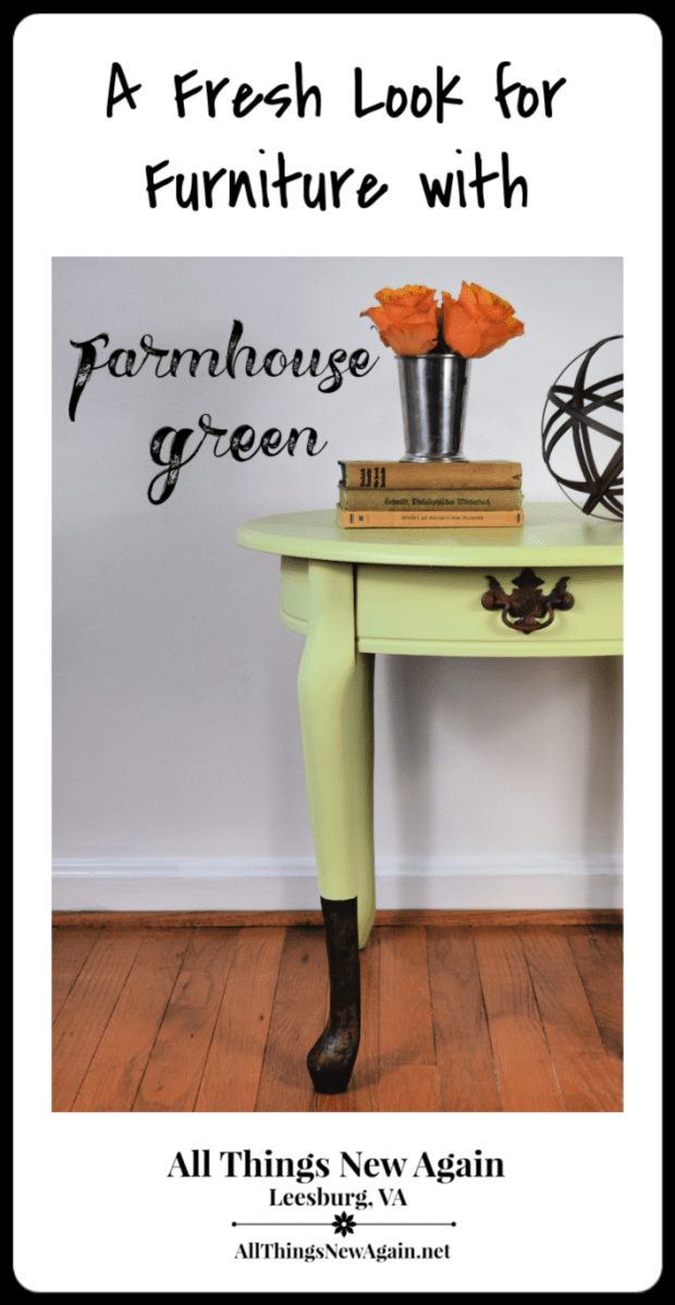 A Fresh Look for Furniture with Farmhouse Green | All Things New Again, Leesburg VA | Dixie Belle Paint Co. Retailer