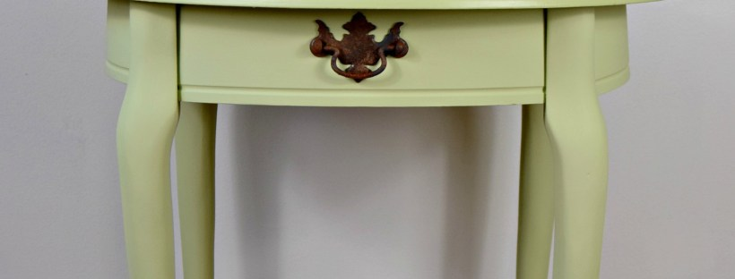 Fancy Farmhouse Green Table | By All Things New Again | Leesburg Virginia furniture store