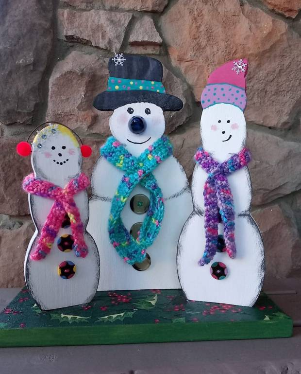 Virtual Paint Party | Light-Up Snowman Trio | All Things New Again | allthingsnewagain.net