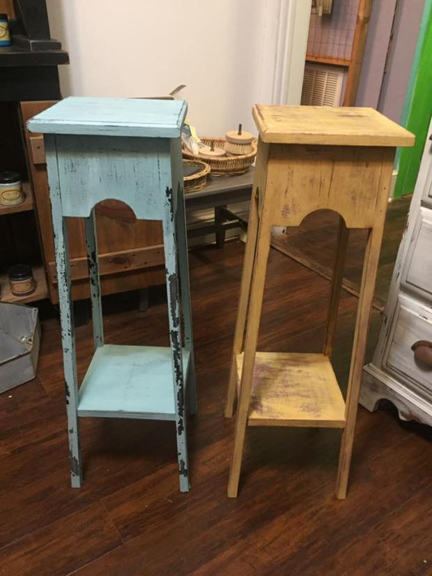 Milk Paint Class   Northern Virginia   All Things New Again   Student Projects   Painted Tables