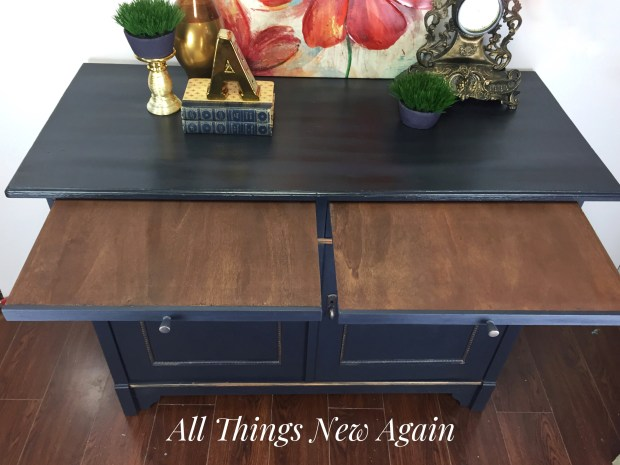 Navy Blue Buffet | Navy Blue Sideboard | Vintage Buffet | Painted Furniture | All Things New Again | Furniture for Sale