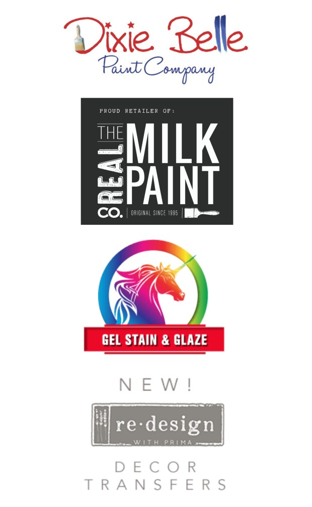 Retailer | Dixie Belle Paint | Real Milk Paint | Unicorn Spit Stain | ReDesign with Prima furniture transfers