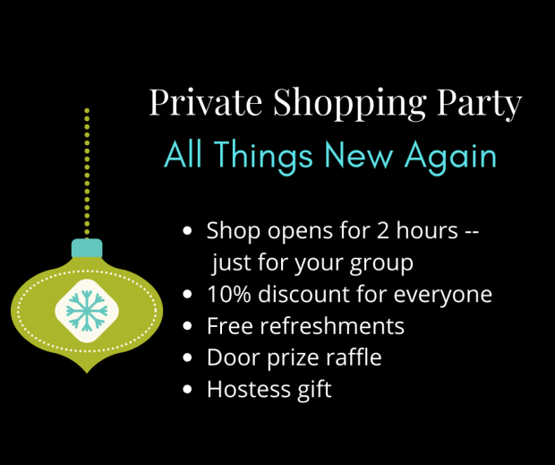 Holiday shopping at All Things New Again in Leesburg VA