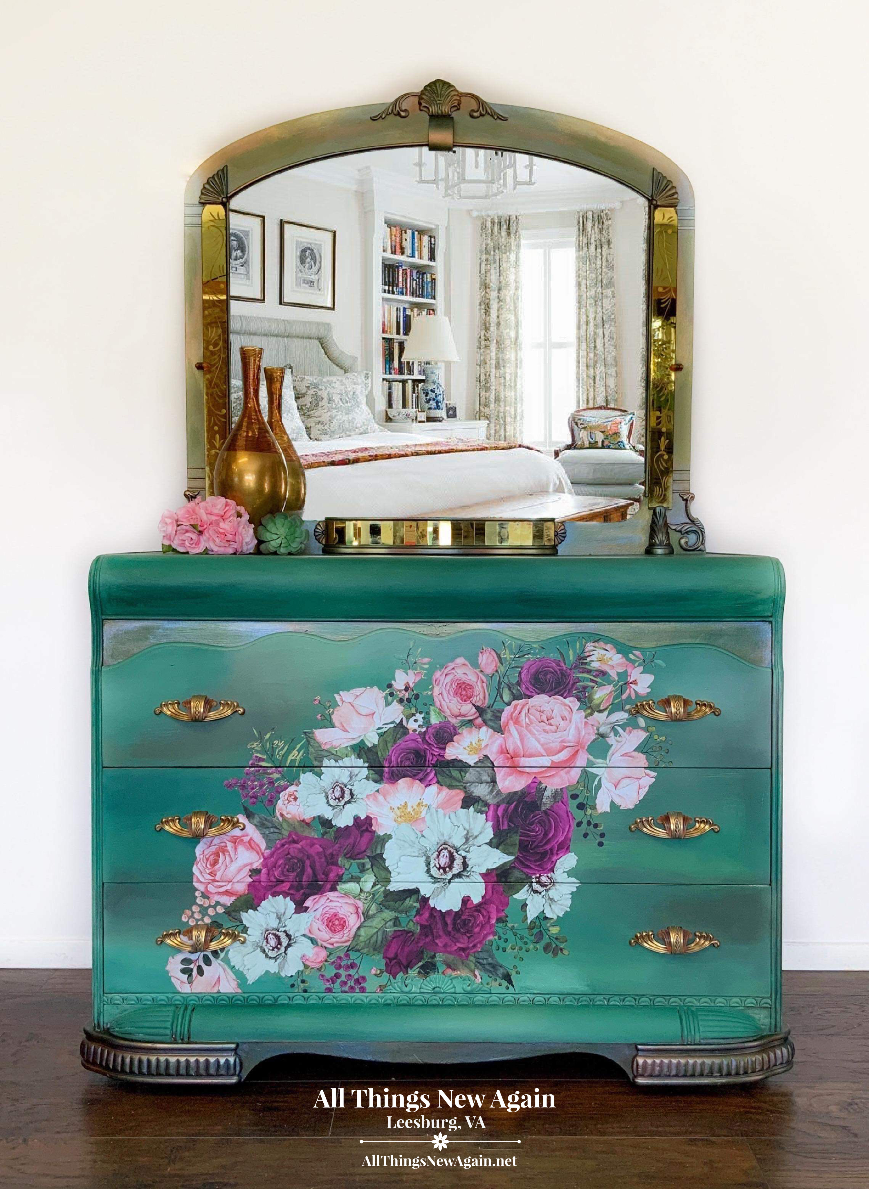 Boho Green Dresser