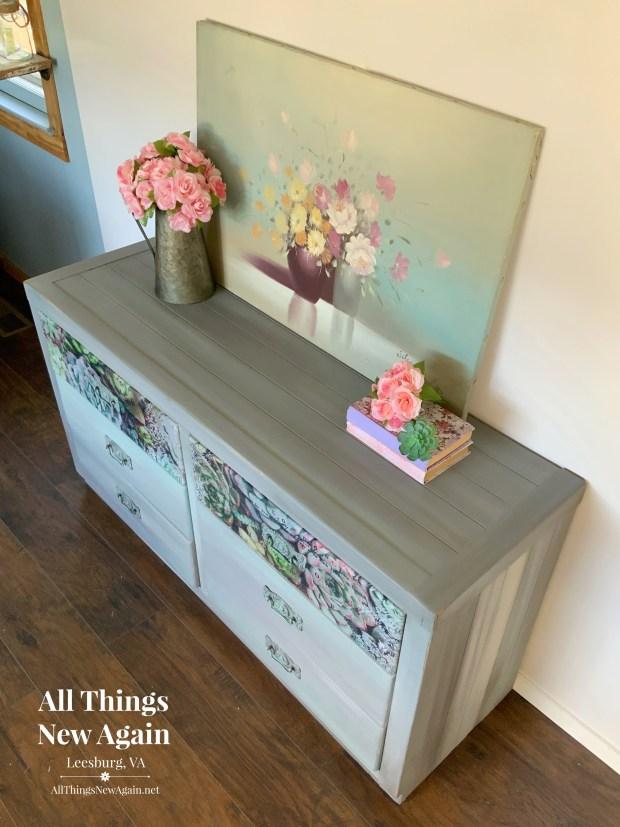 Rustic Gray Dresser | Modern Farmhouse Gray Dresser | Gray Blended Dresser