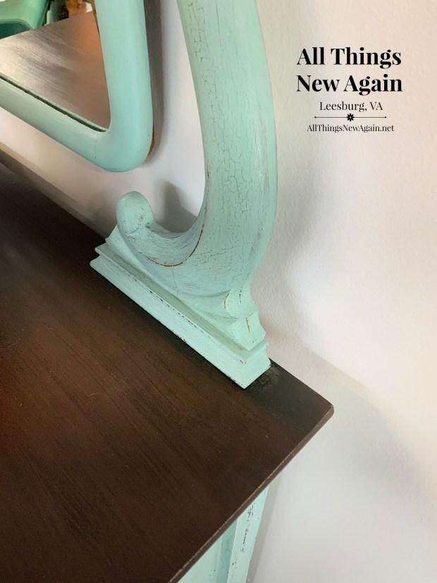 vintage dresser and mirror | painted dresser