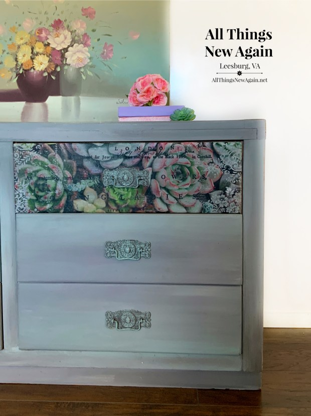 Dixie Belle Paint blended and ReDesign with Prima Zuri tissue succulents