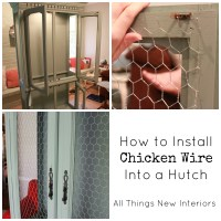How to Install Chicken Wire Into a Hutch
