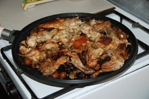CONIGLIO A PARTUISA (Braised rabbit as cooked in Ragusa)