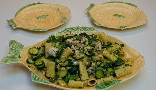 PASTA CON SPADA E MENTA (Pasta with swordfish and mint)