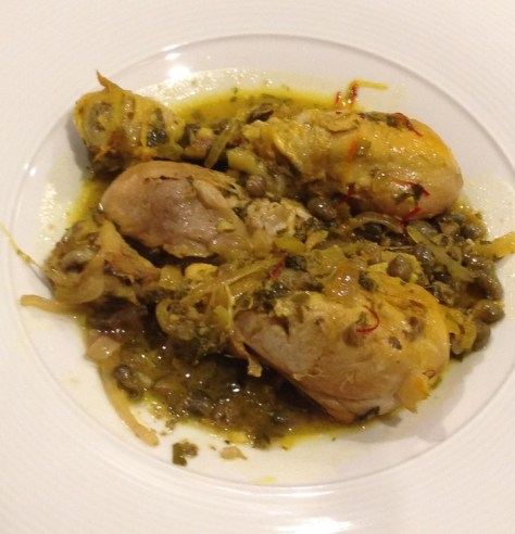 Chicken legs with capers & saffron 2_