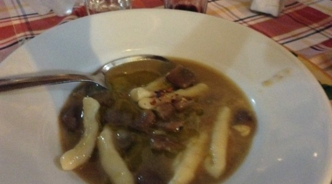 MACCU (a thick, broad bean soup, made at the end of winter to celebrate spring)