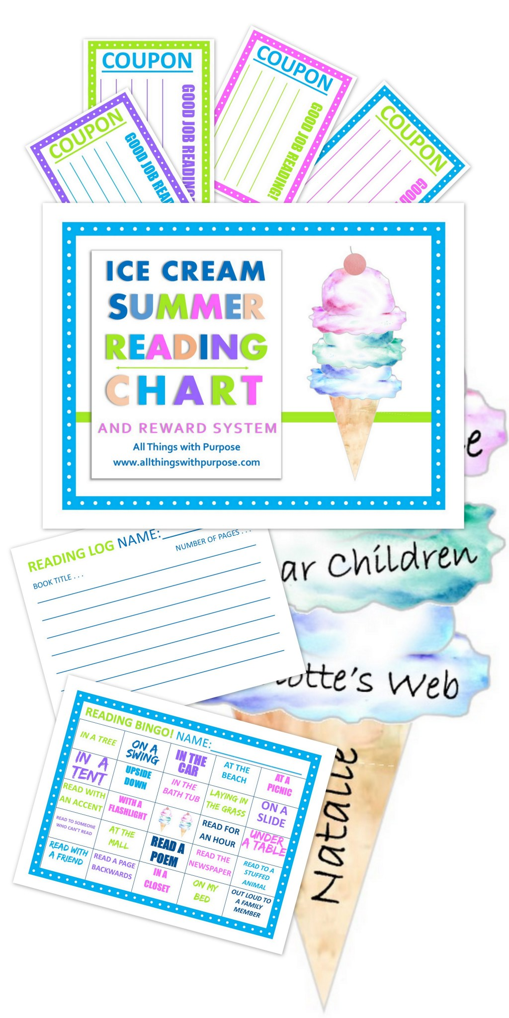 Ice Cream Summer Reading Chart And Reward System