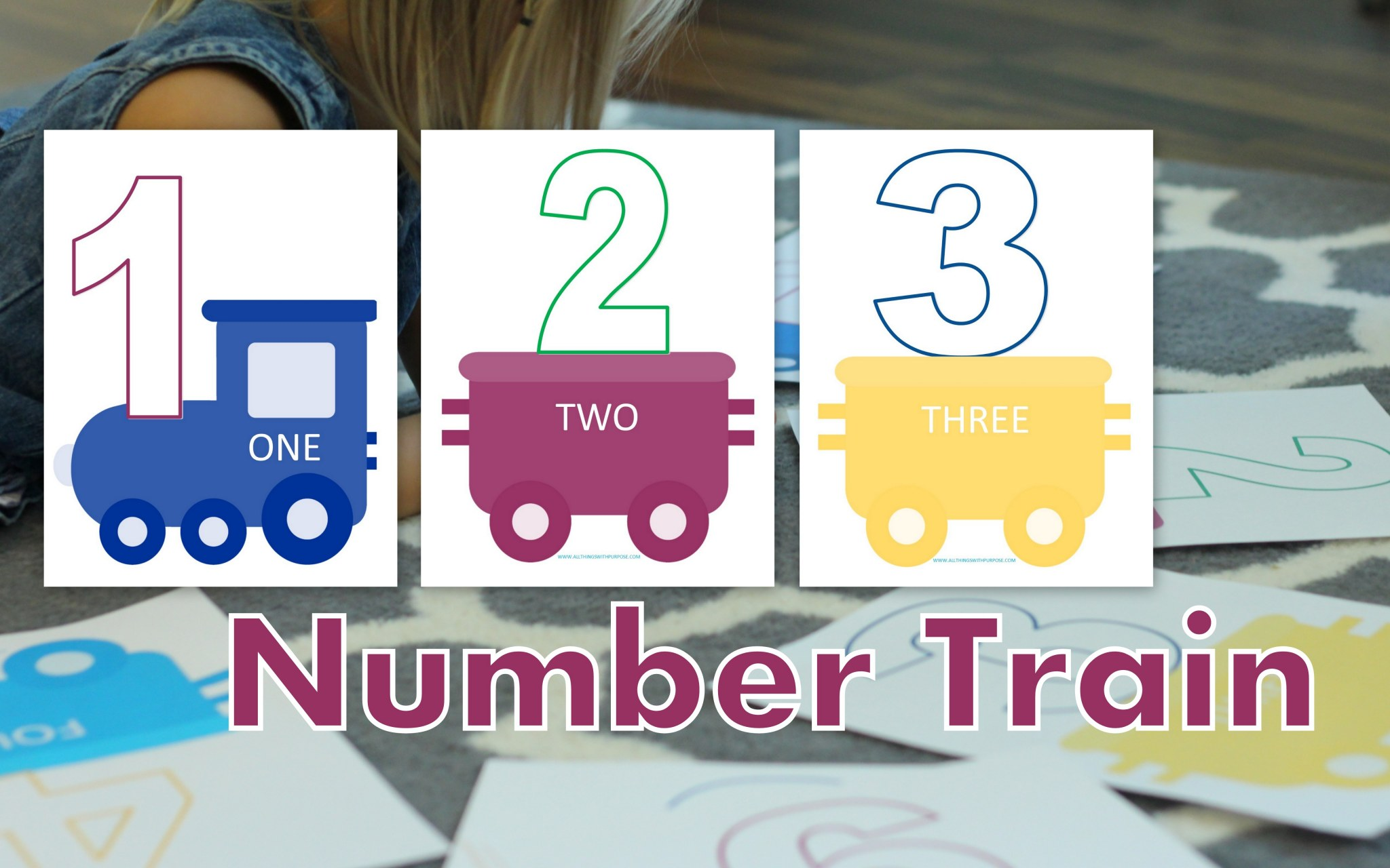 Preschool Printable Number Train