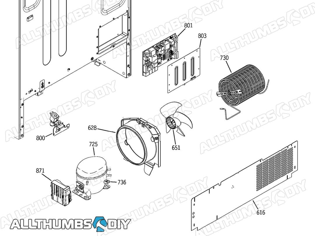 Allthumbsdiy Appliances Refrigerator Ge Parts List 2 Fl