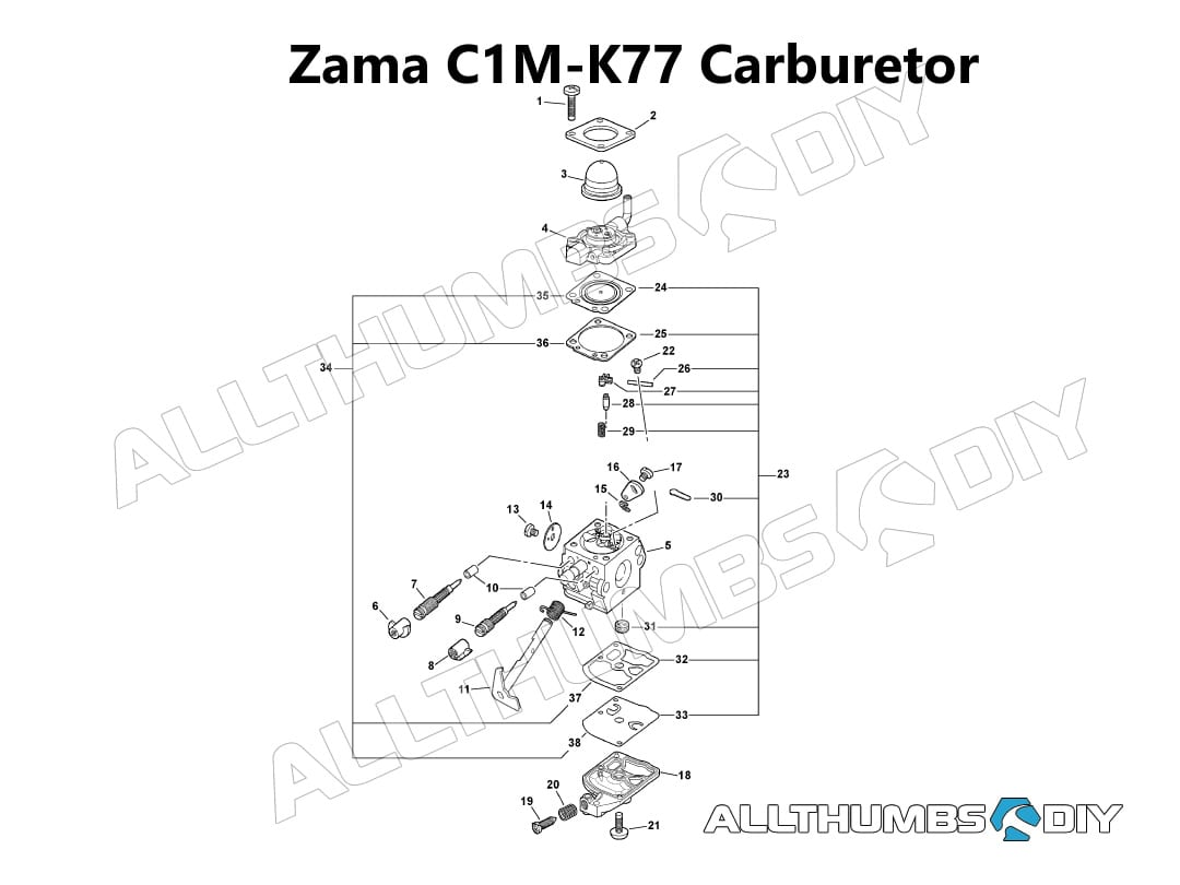 Allthumbsdiy Outdoor Power Equip Echo Leaf Blower Zama